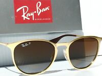 NEW* Ray Ban ERIKA Matte Gold w POLARIZED Brown Lens Women's Sunglass RB 3539