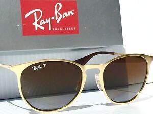 NEW* Ray Ban ERIKA Matte Gold w POLARIZED Brown Lens Women's Sunglass RB3539 112