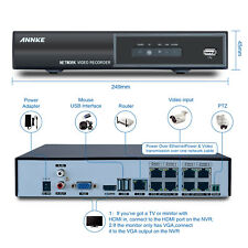 ANNKE 1080P H.264 8CH NVR PoE Network Security Video Recorder for Camera System