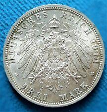 Bavière, 3 mark 1911 D. prince régent Luitpold. Condition SPL !