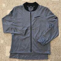 Nike Dry Hyper Elite Full Zip Basketball Jacket Gray Black Size XL 830833-010