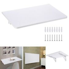Wall Mounted Floating Folding Computer Desk PC Table Space Saving Home White