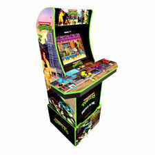 Arcade1Up Teenage Mutant Ninja Turtles Arcade Cabinet Machine with Riser