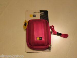 Case Logic camera case magenta pink QPB-201 plush lining travel carry strap NEW