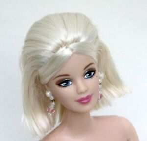Nude TNT Mackie Barbie Chic Platinum Blonde Bob dramatic blue eyes NEW for OOAK