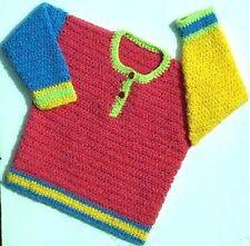 Girls/boys Sweater Crochet Patrón No. 78 diseñado por Kay Jones