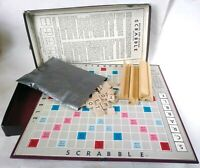 SCRABBLE 1948-53 Vintage Wood Tiles Board Game Selchow Righter Complete USA made