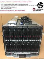 HP C7000 16x HP BL460c Gen8 V2 256-Cores 1TB RAM 10GbE Blade Server Solution