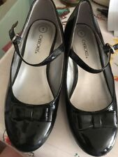 girls patent leather shoes Black Sze 1