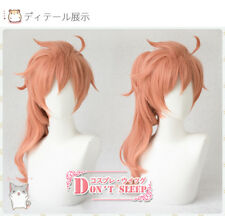 Anime Fate/Grand Order Romani Archaman Cosplay Orange pink Full Wig Short Hair