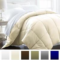 Nice Lightweight Comforter Luxury Goose Down Cream King Hypoallergenic Blanket