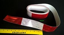 "3M (USA) DOT-C2 2"" x 20' Reflective Semi Or Utility Trailer Tape 6"" Red 6"" White"