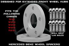 2 Pc 10mm Front Mercedes Benz Flat Wheel Spacers 66.56 H.B Extended Hub Only