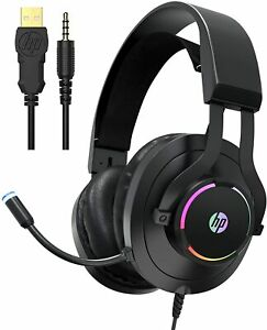 HP Wired Headset with Mic for Xbox One Controller, PS4, PC, Laptop Gaming H360