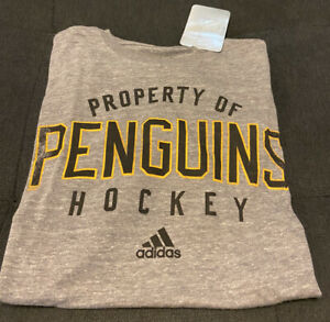 Men's adidas Pittsburgh Penguins Grey T-Shirt Small (NWT)