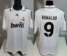 Real Madrid 2008 2009 Home #7 RONALDO football shirt soccer jersey Nike XL men