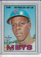 Tommie Reynolds New York Mets 1967 Topps Baseball Card #487 Ex-Mint