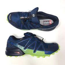Salomon Speedcross 4 GTX Blue Trail Running Shoe Sneaker Mens 11.5