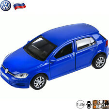 Diecast Cars 1:36 Scale Volkswagen Golf 7 Hatchback Russian Collectible Toy Car