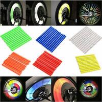 24pcs Cycling Bike Wheel Spoke Reflector Clips Reflective Warning Strip Tube JE