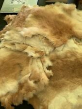 Reddish tan Rabbit Pelt Hide Fur for Crafts Decorate Natural Colors