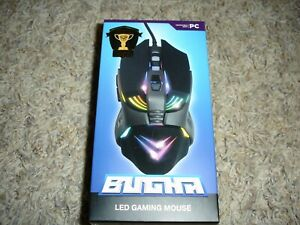 Bugha LED Light up gaming universal mouse Xbox PS4 PC 7200 DPI, 7 keys