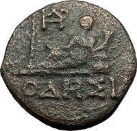 ODESSOS in THRACE 190BC Apollo & Great God Derzelas Ancient Greek Coin i59616
