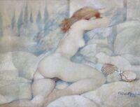 Gemälde Frauenakt von Hannes Wiedemann 1984