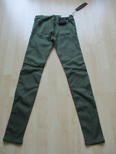 """ladies REPLAY GREEN COTTON SKINNY HIGH WAIST SIZE 30"""" W - 28"""" L NEW WITH TAGS"""