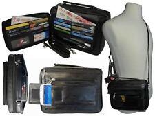Accessoires sac bandoulière noir en cuir pour homme