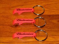 Budweiser Beer Key Chain / Bottle Opener Lot of 3