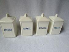 4 schöne alte Keramik-Dosen Max Roesler Vorratsgefässe Deckeldosen Gewürzdosen