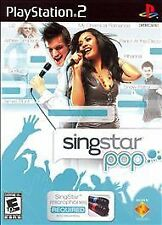 ***SINGSTAR POP PS2 PLAYSTATION 2 DISC ONLY~~~