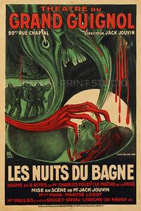 Theatre Du Grand Guignol 1928 Poster Theater Advertising Canvas Print 20x30