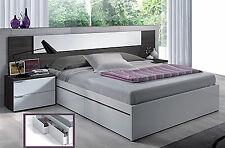 Dormitorio de Matrimonio + 2 mesitas y cama con cajones en color gris ceniza mo