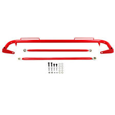 49 Stainless Steel Racing Safety Seat Belt Roll Harness Bar Rod Universal Red