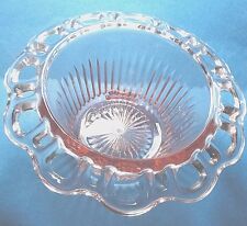 Vintage Depression Glass Pink Old Colony Bowl
