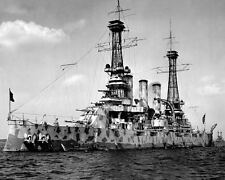 BATTLESHIP USS NEW JERSEY IN CAMOFLAUGE COAT 8X10 PHOTO