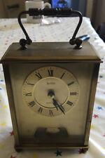 Acctim Cuarzo Reloj con Péndulo Campana Alemania Carruaje Vintage Reloj de latón