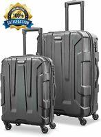 "Samsonite Centric 24"" 20"" Expandable Hardside Spinner Luggage Set 2 Piece Black"