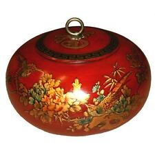 New Chinese Wood Storage Decoration Box in Red Paint (LB-R-FL)