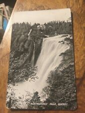 1910  PHOTO POSTCARD MONTGOMERY FALLS QUEBEC CANADA