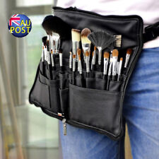 28 Pocket Makeup Bag PU Leather Cosmetic Brushes Case Tool Belt Strap Holder  MN