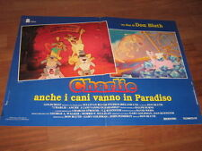 CHARLIE ANCHE I CANI VANNO IN PARADISO DON BLUTH FOTOBUSTA  CARTONI