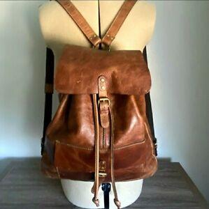 Patricia Nash Atrani Brown Leather Backpack, Unisex