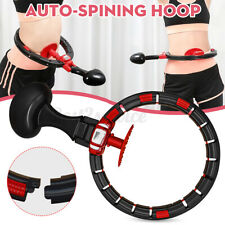 US Smart Exercise Hoop Auto-spinning Waist Fitness Weight Loss Circle Adjustable