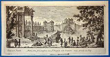 Gravure Etching Incisione Kupferstich Gabriel PERELLE vue fontaine XVIIe
