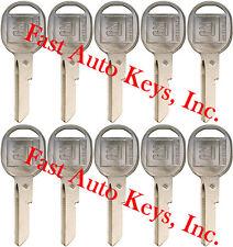 """10 NEW GM Logo OEM DOORS/TRUNK """"B"""" Key Blank Uncut 320589 B49P B49 01154611 5-B"""