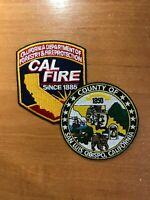 PATCH FIREFIGHTING CALIFORNIA FORESTRY AND FIRE PROTECTION SAN LOUIS OBISPO