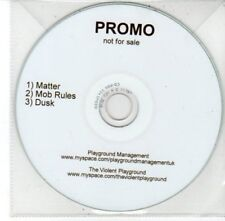 (DG215) The Violent Playground, Matter / Mob Rules - DJ CD